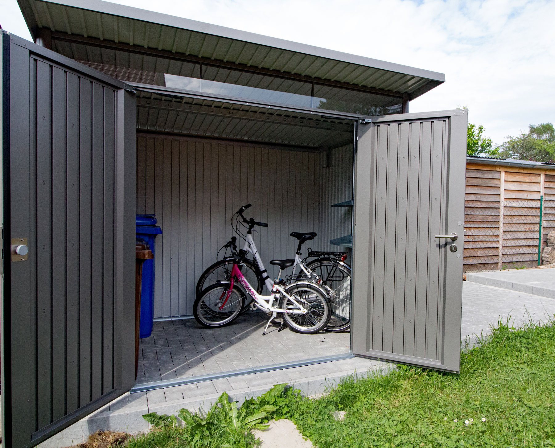 der verschliessbare fahrradschuppen neu ab mai 2017